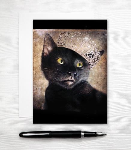 Princess Cat Card